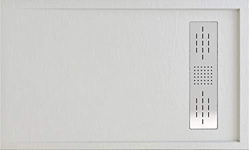 Plato DE Ducha Resina Textura Pizarra Mod. Alba (Crema, 160 X 80)