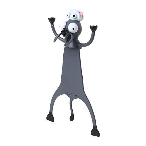MEIYIN Marcador de livro 3D Stereo Cartoon Animal Lagarto Lobo Gato Coelho Marcador de livro engraçado para estudantes e crianças