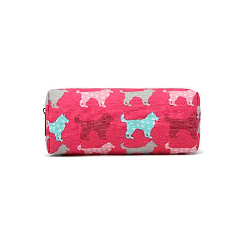 Portable Cute Pencil Case with Dogs Pattern Print Pencil Box Big Capacity...
