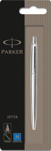 Parker Jotter - Bolígrafo de punta de bola (acero inoxidable, adornos en...