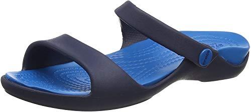 Crocs Cleo V Sandal, Sandalias con Punta Abierta para Mujer, Azul (Navy/Ultramarine), 42/43 EU