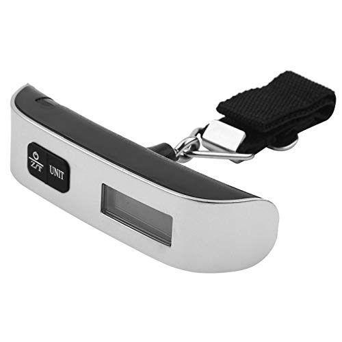 Raguso T Type Gift Scale Travel Portable Handheld Electronic Lcd Display Digital Luggage Suitcase Bag Scale New Silver(With Backlight)