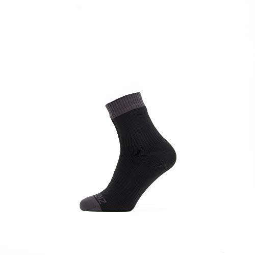 SealSkinz Waterproof Warm Weather Ankle Length Sock Unisex Erwachsene, schwarz/grau, M