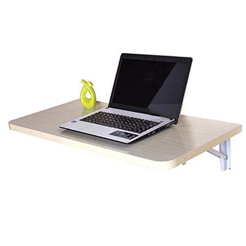 TLMYDD Mesa Plegable de Pared Mesa de Trabajo portátil portátil con Hojas abatibles Estación de Trabajo Mesas a Base de Madera, 4 Colores, 3 tamaños Mesa (Color : A, Size : 50x30CM)