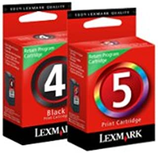 Lexmark 18C2255 4 & 5 X2690 X4690 X5690 Z2390 Z2490 Ink Cartridge (Black & Color, 2-Pack) in Retail Packaging.