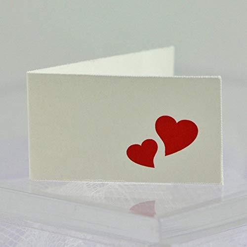 Il Villaggio degli Sposi s.a.s. 40 Bigliettini bomboniera Matrimonio con Cuori