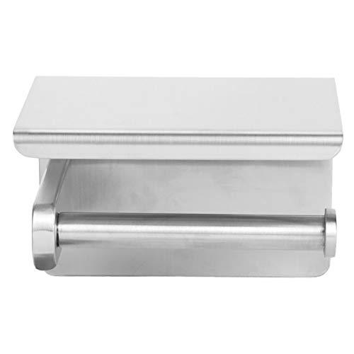 con estante para teléfono Toallero de papel de seda Soporte de papel higiénico cepillado Mano de obra estándar para hotel para baño