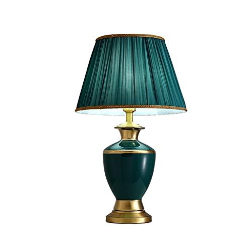 SPNEC Sencillo Estudio Americano decoración lámpara de Mesa Cobre cerámica Retro nórdico Estilo Sala de Estar Dormitorio mesita de Noche lámpara