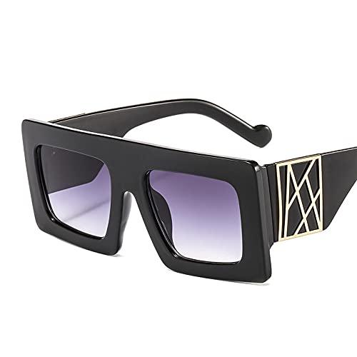 ShSnnwrl Único Gafas de Sol Sunglasses Gafas De Sol Cuadradas De Gran Tamaño Vintage para Hombres Y Mujeres, Nuevas Gafas De Sol