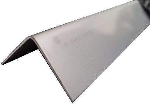 Winkel Profil, 2500mm stabiler Edelstahl Winkel 30x30 mm Schenkelinnenmaß aus Edelstahl blank 2 mm stark L Profil, Winkelblech,