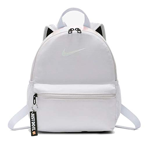 Desconocido Nike Y Nk Brsla JDI Mini Bkpk Backpack, unisex, per bambini, vast Grey/Vast Grey/White, taglia unica, Unisex - Bambini, BA5559 078, grigio/bianco (vast grey/Vast grey/White), taglia unica