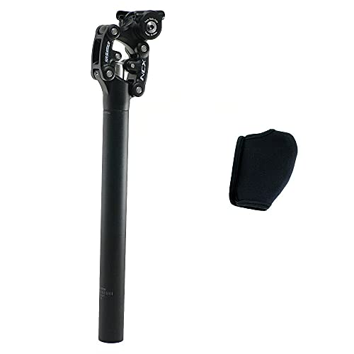 SR Suntour SP12 NCX Suspension Seat Post with Protective Cover 31.6X350mm,Black, VK2352