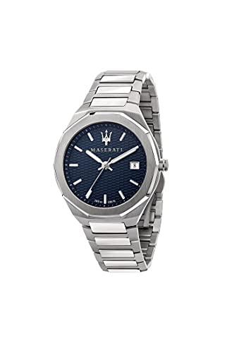 Maserati Reloj Hombre, Colección Stile, Cuarzo, Tiempo y Fecha, en Acero - R8853142006