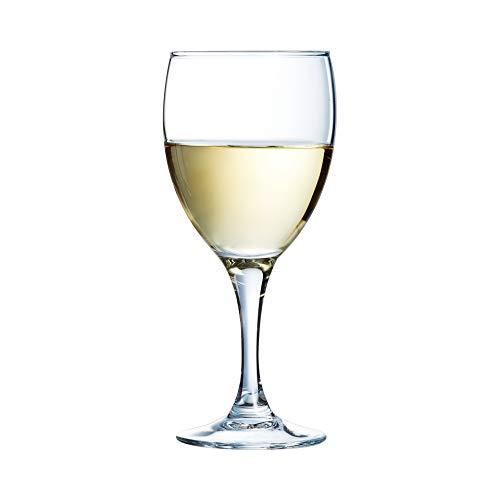 Arcoroc Elegance Bicchiere di vino bianco 190ml, senza contrassegno di riempimento, 12 Bicchiere