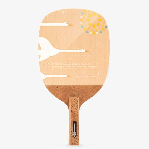 TMOUNT TCORE Stardust Crystal White - Performance Table Tennis Blade - Professional Ping Pong Paddle - Japanese Style Penhold Blade - Made in Korea