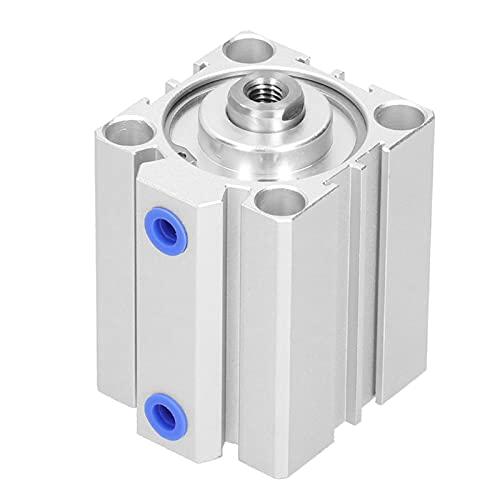 Agatige Cilindro de Aire neumático, Cilindro Delgado de aleación de Aluminio de Doble acción, componentes de Sellado, Suministros industriales SDA40X40