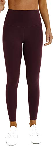 Chaos World Donna Pantaloni Yoga Fitness Vita Alta Palestra Sportivi Leggings Leggins(Vino Rosso,XS/Tag 4)