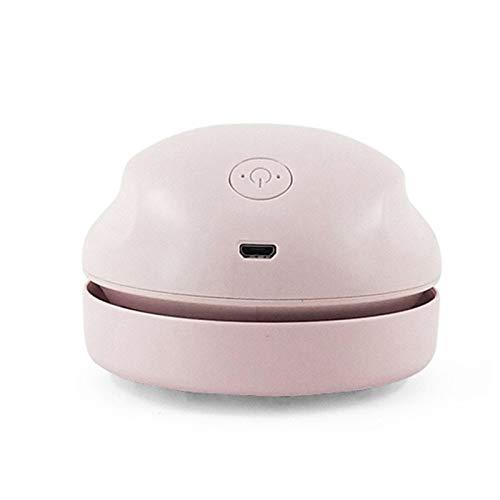 Kaijia Aspiradora de escritorio con cepillo y boquilla Mini USB recargable polvo migas limpiador de succión para teclado mejor para limpiar migas, residuos de borrador, teclado, sofá, etc