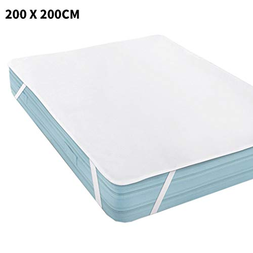 Vansee Waterproof Mattress, Waterproof Mattress Protector Waterproof Mattress Pad Pillow Cover 200 x 200 cm