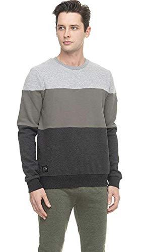 Ragwear Herren Sweatshirt Dotte Pullover m. Rundhalsausschnitt ohne Kapuze Vegan Olive L