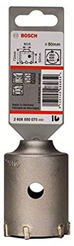 Bosch 2 608 550 075 - Corona perforadora hueca SDS-plus-9 para adaptadores hexagonales (50 x 50 x 72 mm)