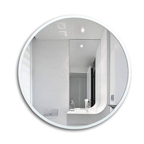 Miroirs de salle de bain Décoration en Bois Miroir de Maquillage pour Femme Miroir de penderie Miroir Rond de Chambre à Coucher Miroir de Douche Domestique Miroir Semi-Corps Bea