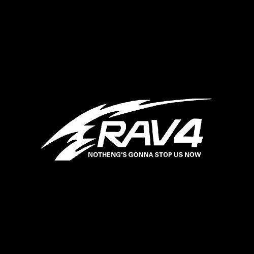 YUSHAZI Ersatzreifenaufkleber rückseitige Abdeckung Abziehbilder, geeignet für Toyota RAV4 Reserverad reflektierende Aufkleber