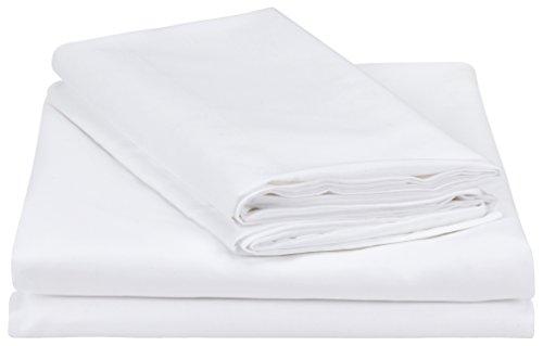 Amazon Basics Bettwäsche-Set, weiß, 260 cm x 220 cm