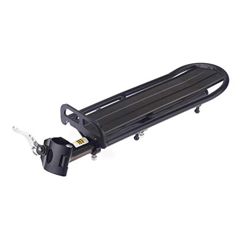 UPANBIKE Bike Rack 22lbs Capacity Mountain Bicycle Adjustable Length Rear Rack Quick Release Mounted at Seatpost Luggage Carrier Cargo