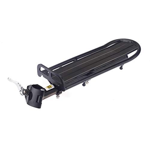 UPANBIKE 22lbs Capacidad para Bicicleta de montaña Bicicleta Ajustable Longitud Trasero Accesorio de liberación rápida Montado en tija Equipaje Portador de Carga