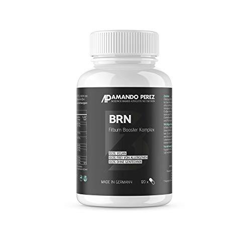 BRN F-Burn Booster • 120 vegane Kapseln • L-Carnitin, Garcinia Cambogia, Grüntee & Grüner Kaffee