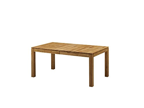 moebel-eins LISSABON Esstisch/Ausziehtisch Holztisch Massivholztisch Esszimmertisch Tisch geölt, Wildeiche, 140/180/220x90 cm