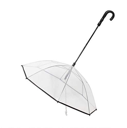 GENERICS paraguas transparente para mascotas paraguas de perro suministros de montaje paraguas impermeable correa para caminar perro