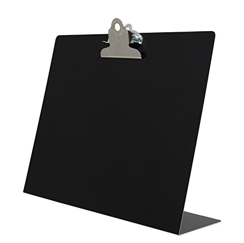 Saunders Black Landscape Free Standing Clipboard - Fits 8.5 x 11 inch Letter Size Documents - Ideal for Home, Office, and Business Use (22527)