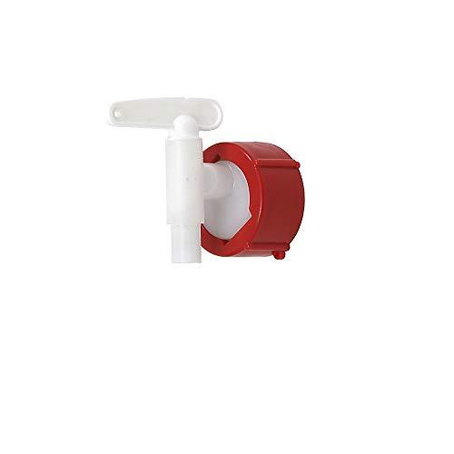 Auslaufhahn aus Polyethylen NW 10, rot
