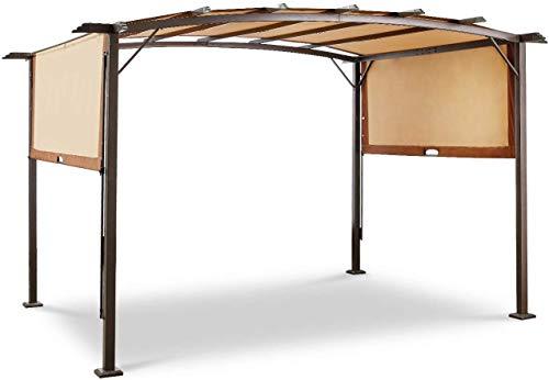 AECOJOY 11.8' X 9.3' Outdoor Retractable Pergola Canopy,Metal...