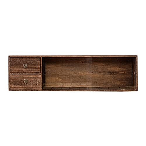 shenzuyang Cabinete de encimera de gabinete Gabinete de Pared Mueble de Pared Muebles de Pared Organizador de encimera de Cocina para Almacenamiento de Cocina (Color : Brown, Size : 90 * 22 * 25cm)