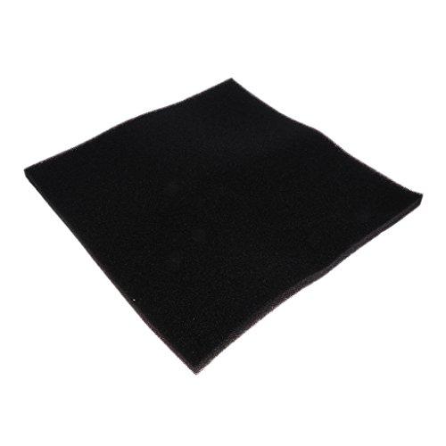 MagiDeal Aquarium Filterschaum Filtermatte in verschiedenen Größen, Schwarz/Weiß - schwarz - 50x50x2cm