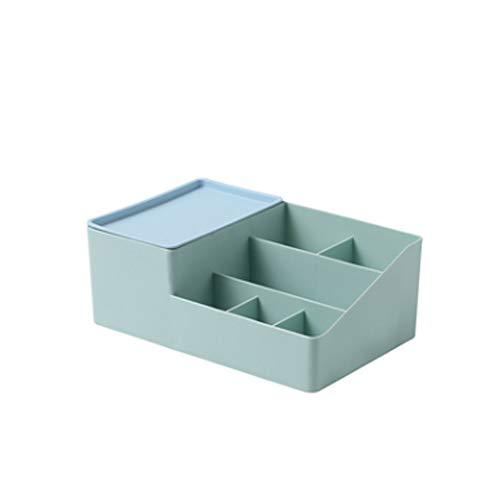 SMEJS Caja de almacenamiento de escritorio multifuncional con 9 compartimentos, caja de almacenamiento para papelería de oficina de malla metálica (color: B)