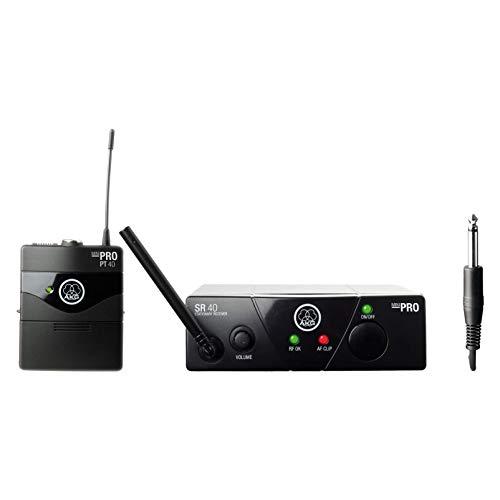 AKG WMS40 MINI INST ISM1 - Micrófono inalámbrico (banda UHF), color negro