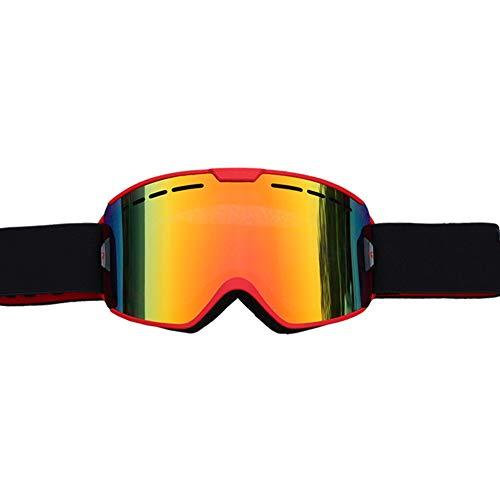 Anti Fog Skibrille Snowboard Brille Brillenträger Herren Damen Erwachsene Jugendliche OTG UV-Schutz Kompatibler Helm Skibrillen Sphärisch Verspiegelt,3
