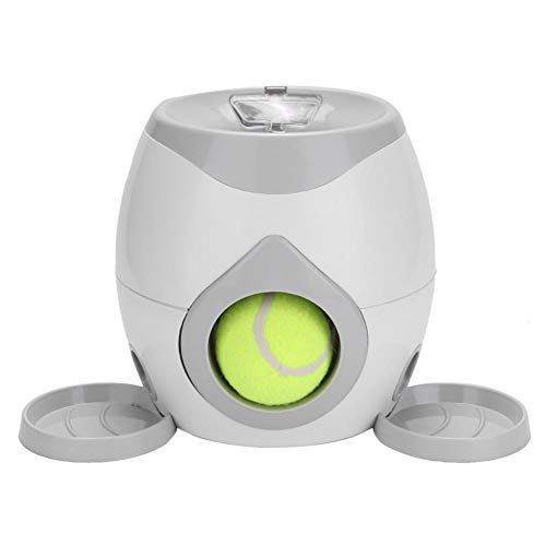 Automatic Dog Ball Launcher Spielzeug, Dog Pet Tennis Launcher Ball Automatische Wurfmaschine Katzenspielzeug Tier Haustiere Slow Feeder Bowl Hunde Puzzle Food Dispenser