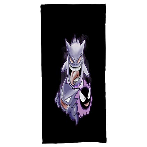 Sweet Dreams Ghastly Haunter Gengar Monster of The Pocket Soft Patterned Bath Towels. Absorbent Towel. Mainly Used in bathrooms and Gyms. Length x Width (55x 27) inches
