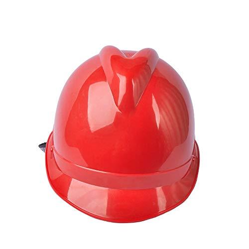 WYNZYSLBD BAU Von Schutzhelmen, Kopfschutz Auf Der Baustelle, Helm Mit Kinn, Mehrfarbig Optional (Color : Red)