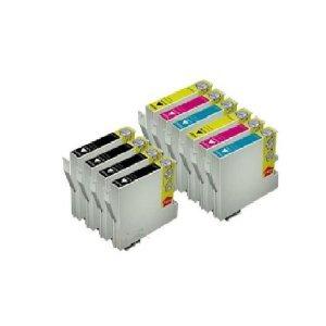 10x kompatibel für Epson Stylus SX405 Druckerpatronen - Cyan / Magenta / Gelb / Schwarz- PATRONEN MIT NEUESTEN CHIP - Kein Umbau und resetten des alten Chips mehr nötig!!!! Kein Adapter notwendig! Einfach einsetzen und drucken mit Füllstandsanzeige