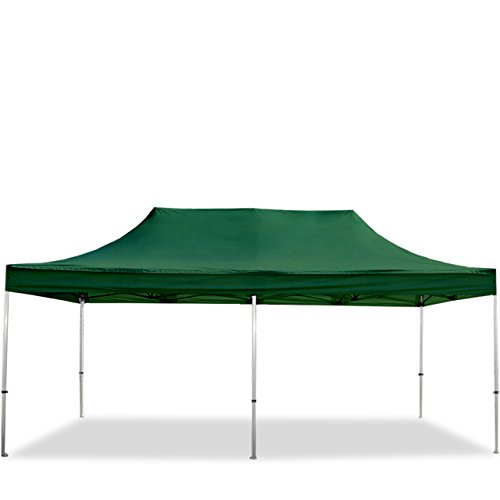 TOOLPORT Faltpavillon Faltzelt Premium NEO 3x6m - ohne Seitenteile ALU Pavillon Partyzelt Dach 100% WASSERDICHT dunkelgrün