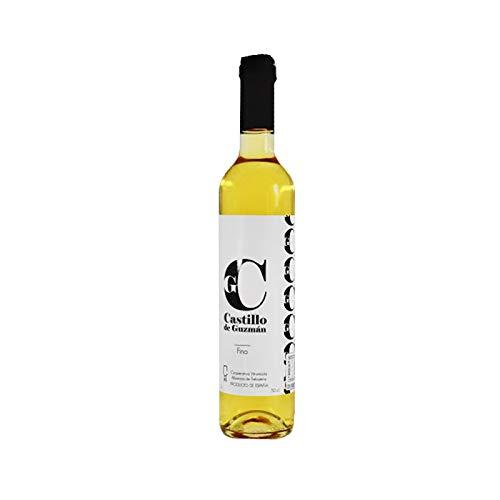Vino Fino Castillo de Guzman de 50 cl - Elaborado en Cadiz - Cooperativa Vitivinicola Albarizas de Trebujena (Pack de 1 botella)