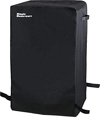Simple Houseware 30-inch Heavy Duty Waterproof Square Electric Smoker Grill Cover, Weather-Resistant Polyester