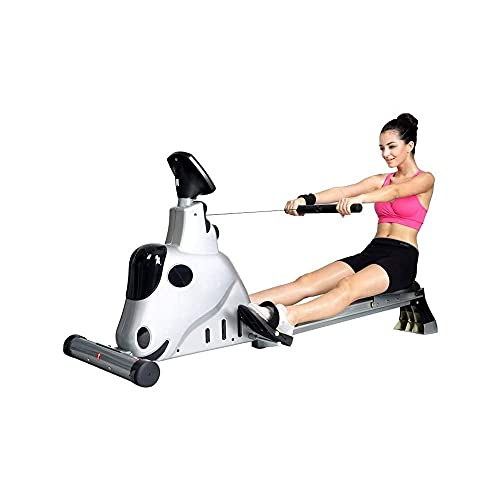 ZOUJIANGTAO Rowing Machine Exercise Rower Tension Resistance with LCD Monitor for Home Use Cardio Training Equipment