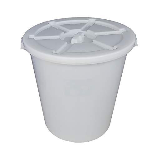 JB-Shuitong Weißer Plastikeimer Mit Deckel, Wasservorratsbehälter, Verdicktes Industriefaß, Runder Eimerhotelküchenweinfassabfalleimer (Size : 100l)